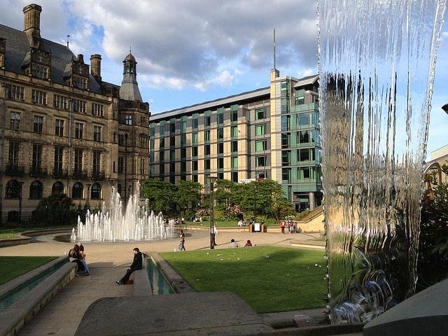 Sheffield city fountain park