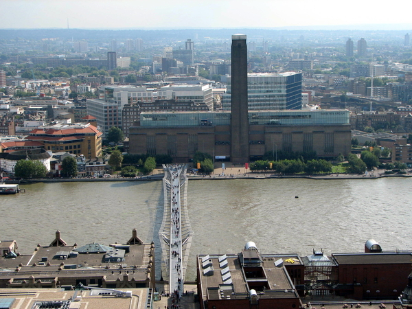 Tate Modern across the bridge in Waterloo
