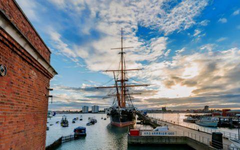 View of Portsmouth Historic Dockyard, PO1 3LJ