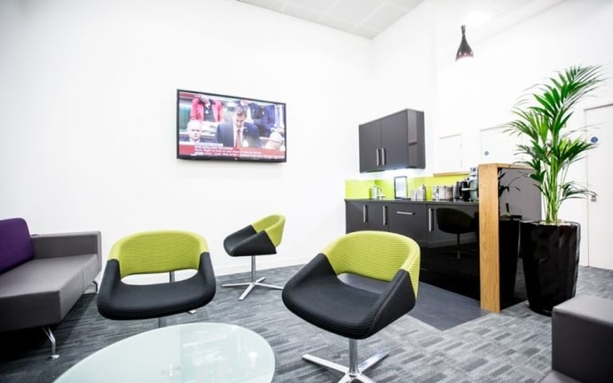The Piccadilly Office building reception area