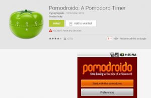 Pomodroido  A Pomodoro Timer   Android Apps on Google Play