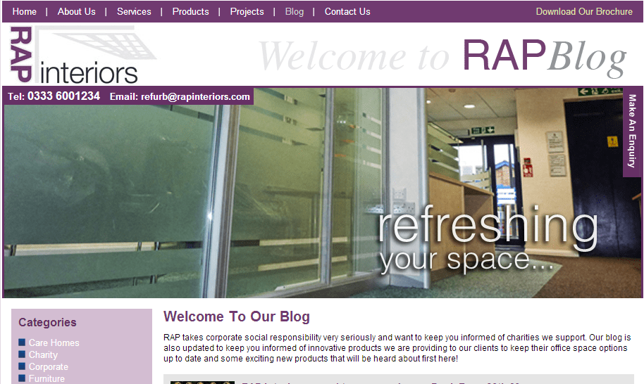 RAP Interiors Blog   Office refurbishment   Office Fit out   Office Partitions