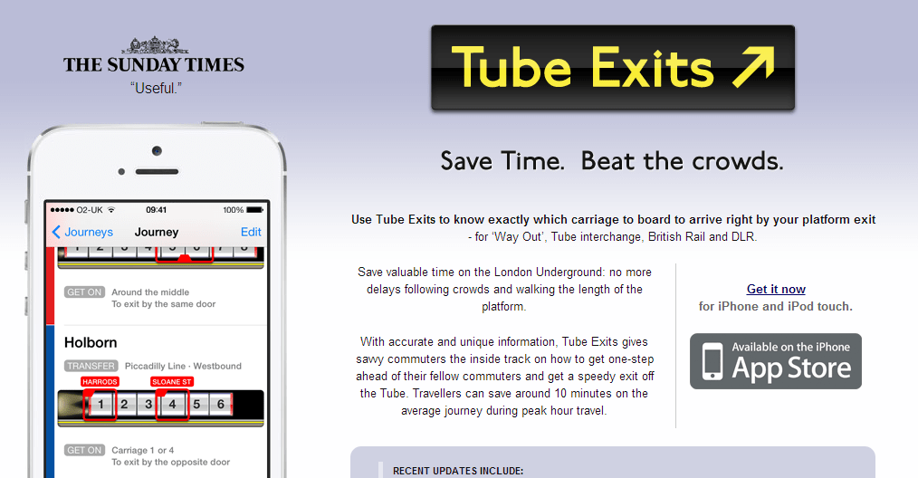 Tube Exits for the London Underground   Save Time. Beat the crowds.