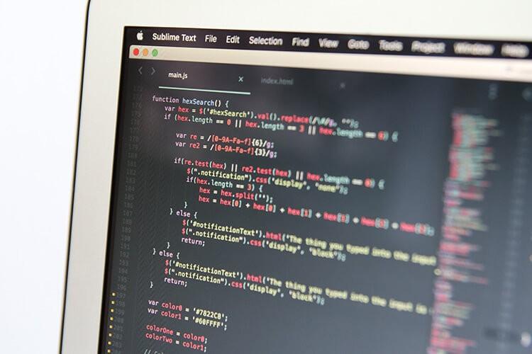An image of an HTML script on a desktop screen