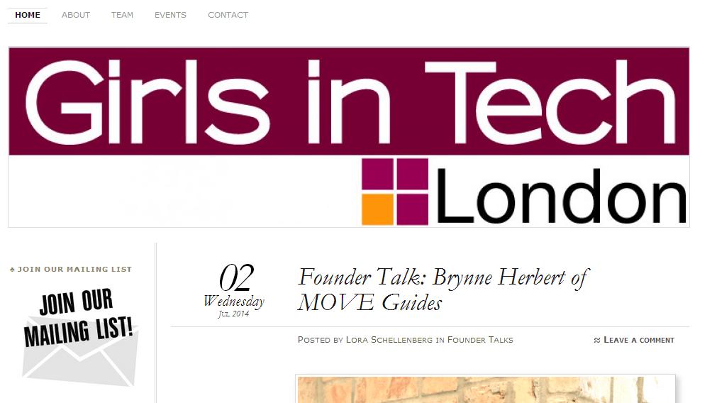 Girls in Tech London- top tech scene blogs in London