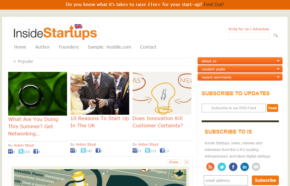 Top London tech scene blogs