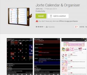 Jorte Calendar   Organiser   Android Apps on Google Play