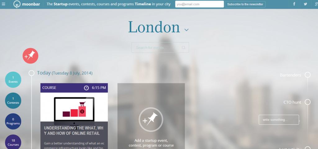 Moonbar, top blog for London tech scene